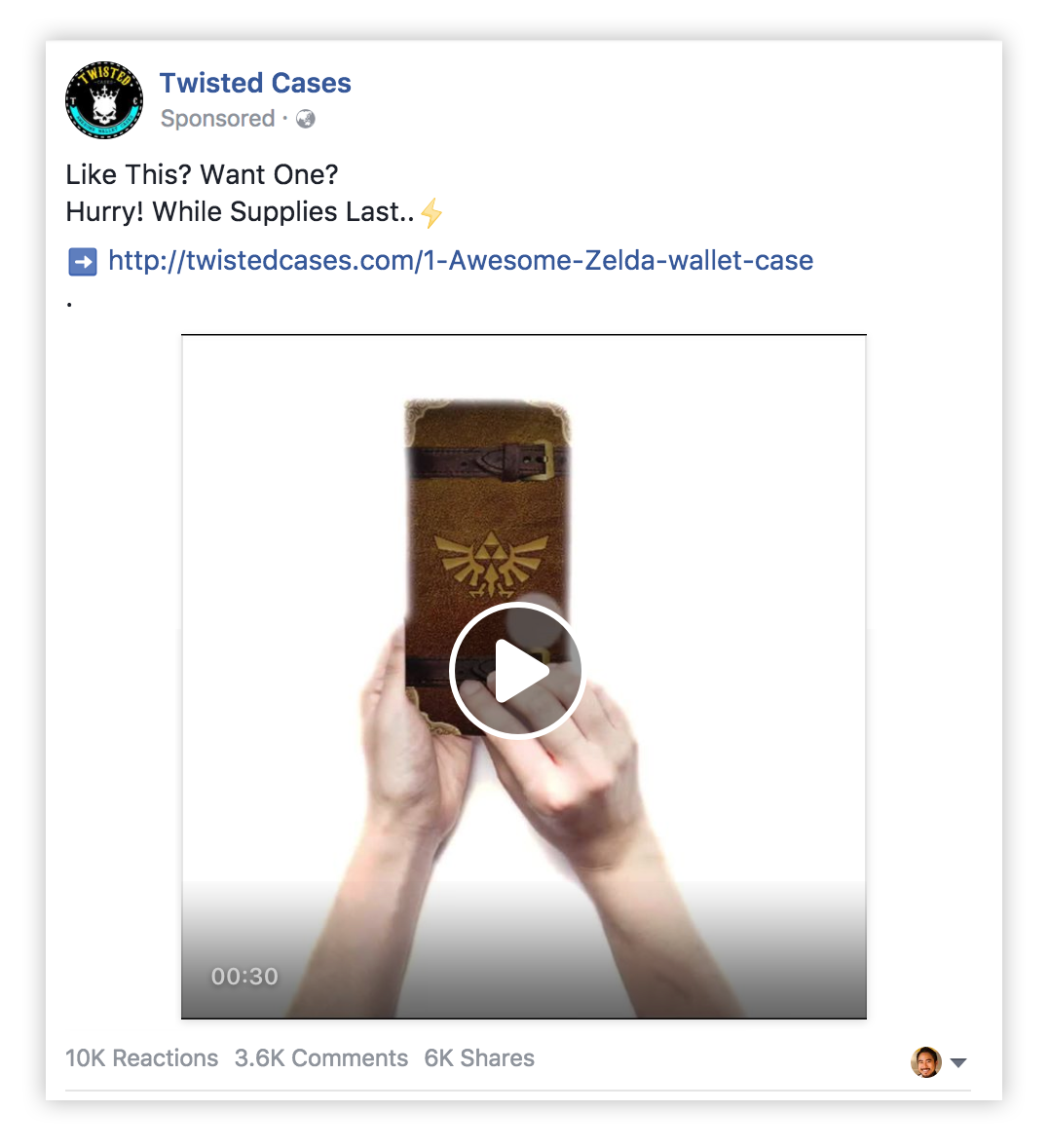 iPhone case video ad example