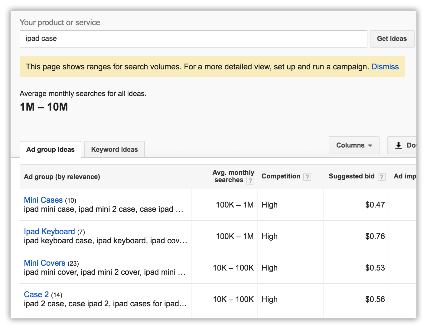 Use Google Keyword Tool for Amazon keywords